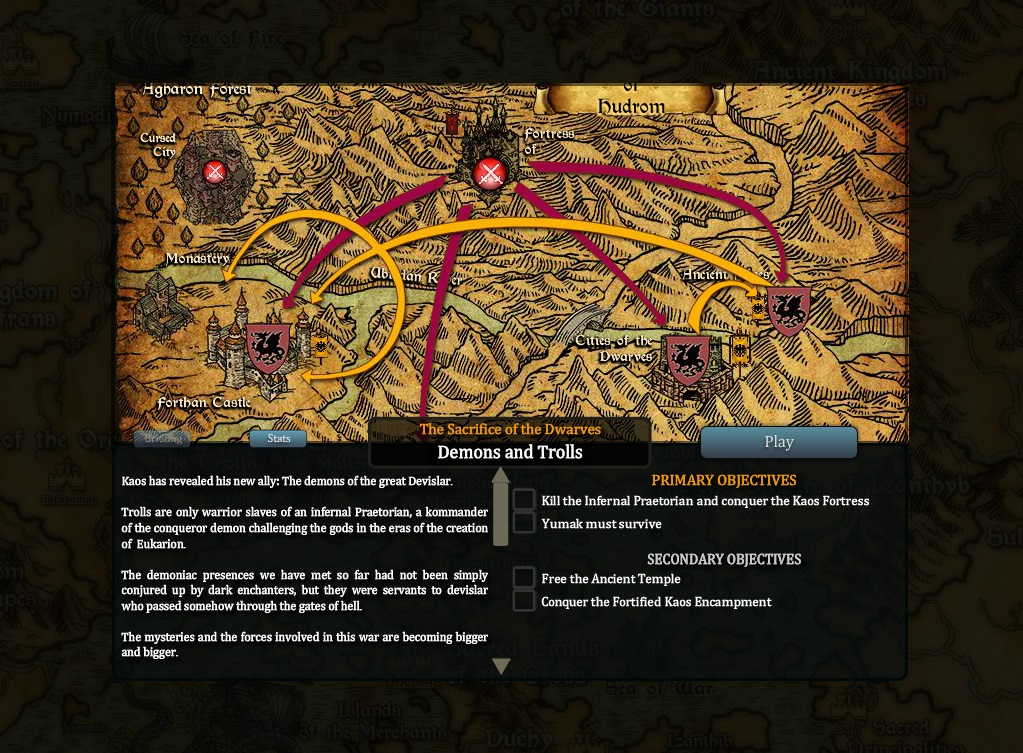 The Kommander follows the war events on the world map.
